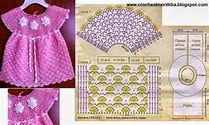 Vestido De Ni U00f1a Tejido Al Crochet