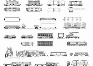 Types Of Railcars Dwg  Free Cad Blocks Download