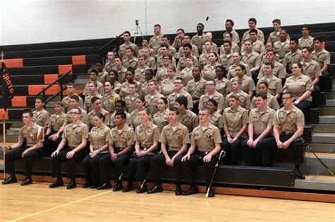 easton high school navy junior rotc receives outstanding