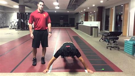 closed kinetic chain upper extremity stability test youtube