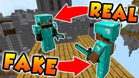 Hilarious Diamond Armour Troll In Minecraft Sky Wars