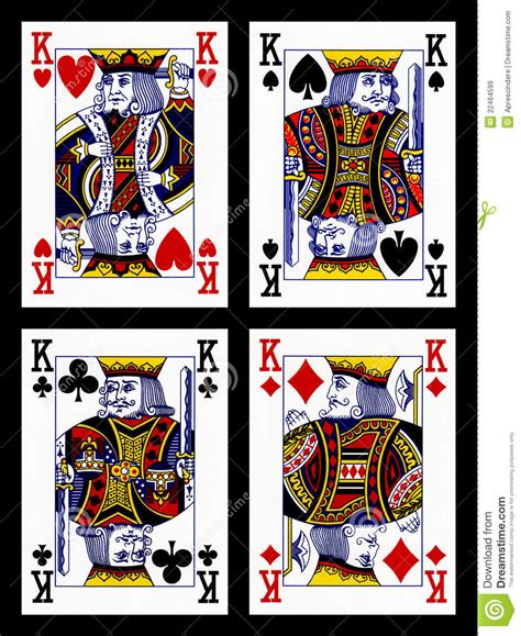 playing cards kings royalty  stock images image