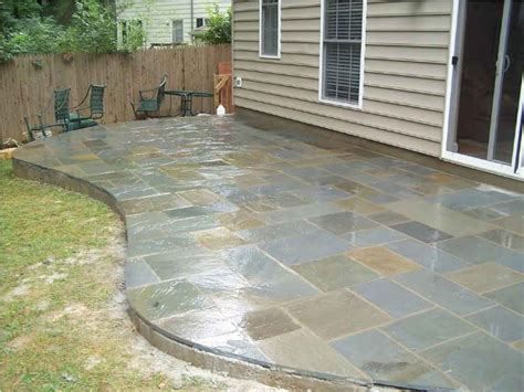 flagstone in concrete flagstone patios for your yard designwalls com