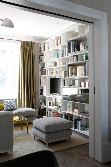 Living Room With Modern B&B Italia Bookshelf   Design Ideas & Pictures (houseandgarden.co.uk)