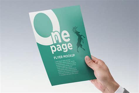 Flyer Mockup Bundle Of One Page Flyer Mockups Mockupworld