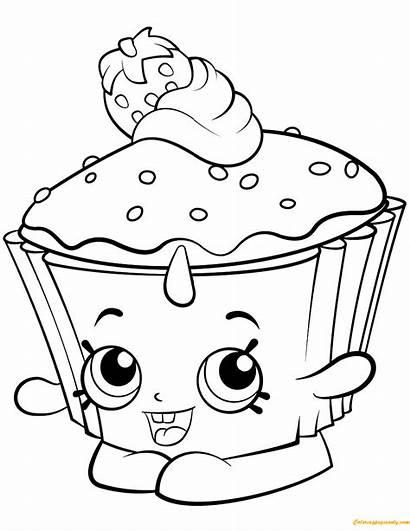 Shopkin Coloring Cupcake Pages Shopkins Chic Season