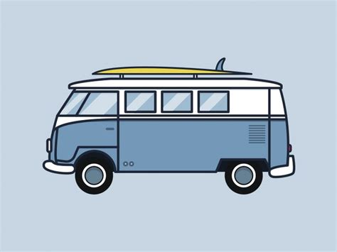 volkswagen bus drawing the 25 best car illustration ideas on pinterest used