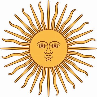 Argentina Sol Svg Bandera Mayo Wikipedia Inca