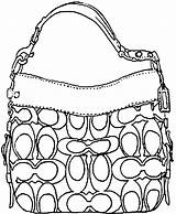 Coach Handbag Pages Draw Coloring Gucci Bag Drawing Colouring Handbags Step Purse Accessories Purses Drawings Dragoart Sketches Picolour Belt Ladies sketch template
