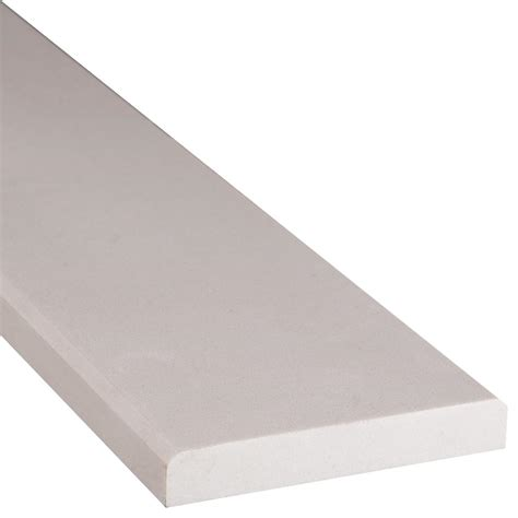 home depot flooring threshold ms international white double bevelled 2 in x 36 in engineered marble threshold floor and wall