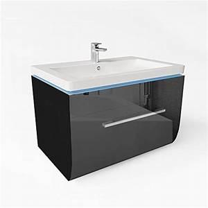 Badmöbel Schwarz Hochglanz : badm bel set badezimmer waschbecken led waschtisch schwarz hochglanz m bel24 ~ Indierocktalk.com Haus und Dekorationen
