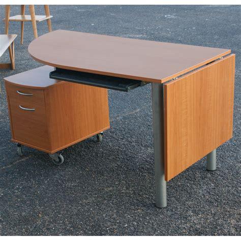 drop front desk with file cabinet drop leaf wood desk swivel file cabinet casters ebay