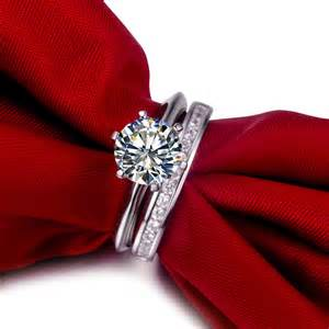 simulated engagement rings 2 ct nscd sona simulated brilliant cut solitaire wedding engagement ring with