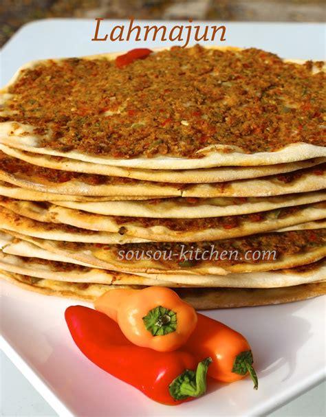 cuisine de sousou lahmacun pizza turque sousoukitchen