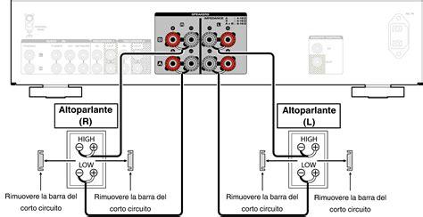 collegamento bi wiring  doppio cavo pm