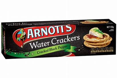 Water Cracker Crackers Arnott Cracked Pepper Biscuits