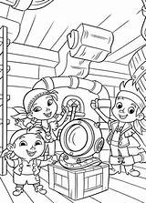 Coloring Jake Pirates Neverland Pages Printable Izzy Pirate Captain Helmet Chubby Dive Found Popular Coloringhome sketch template