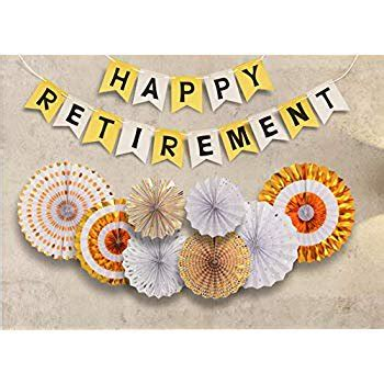 Nowadays party invitations are often sent via email using services like evite or punchbowl, but a fun variety of paper retirement invitations are also available. Retirement Party Decoration, Happy Retirement Decorative Banner, Happy Retirement Banner Bunting ...