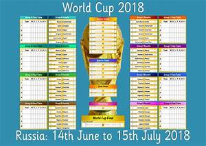 2018 World Cup Wall Chart By Hsx