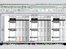 Workout Template Excel calendar monthly printable