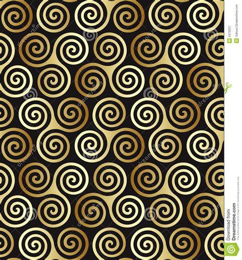 seamless celtic spiral pattern stock vector illustration