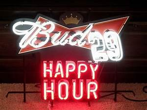 NEW Bud NASCAR 29 Kevin Harvick Happy Hour NEON Sign beer
