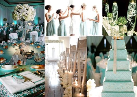 Winter White And Tiffany Blue Wedding Inspiration