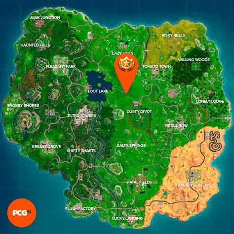 fortnite dusty divot treasure map location revealed pcgamesn