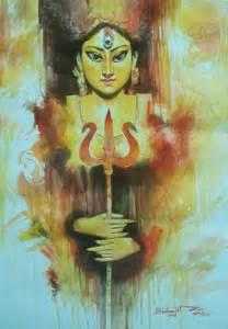 buy painting durga  artwork    indian artist