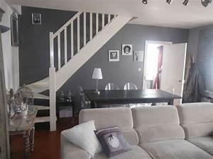 Deco salon blanc gris deco salon pinterest deco et for Deco cuisine pour meuble de sejour