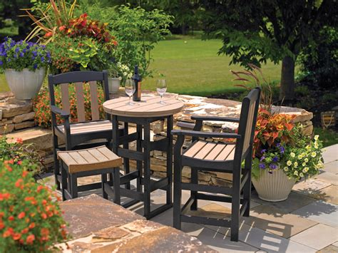 Wood Patio Furniture by Poly Wood Furniture Tropicraft Patio Furniture