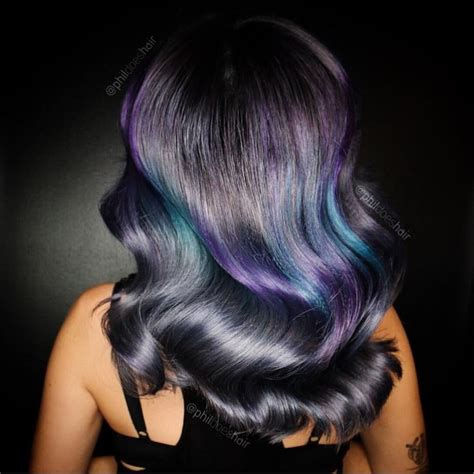 Midnight Mermaid Hair Dramatic Charcoal Black Hair To