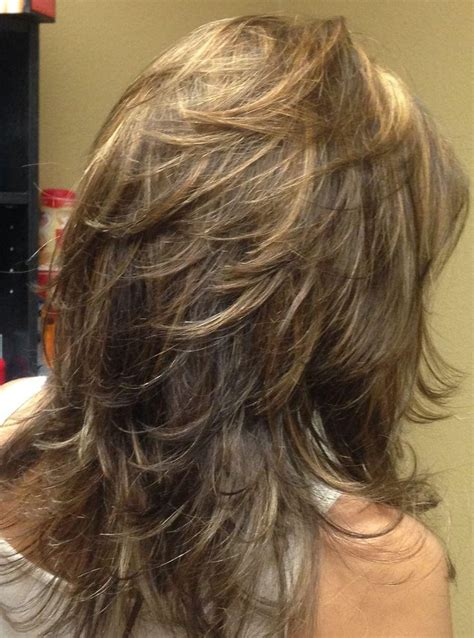 photo  long hair short layers hairstyles