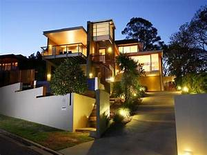 outdoor home designs gorgeous outside home design With outdoor lighting ideas for side of house