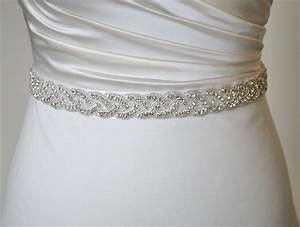 how to embellish simple wedding dresses the best With wedding dress belts crystal