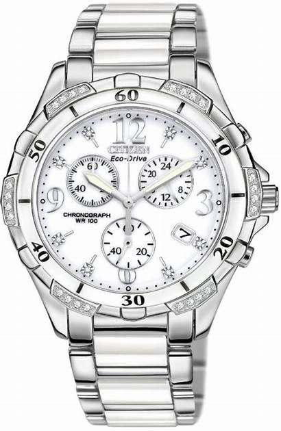 Citizen Chronograph Diamond 50a Watches Ceramic Ladies