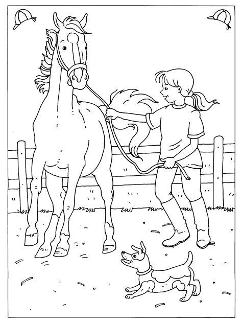 Paardrijden Kleurplaat by Kleurplaten Paradijs Kleurplaat Dressuur
