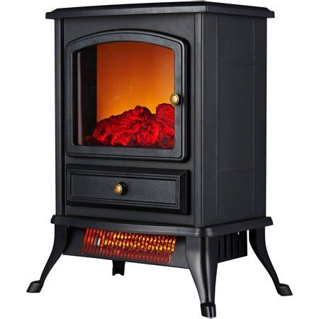 electric fireplace heater walmart warm living portable infrared quartz home fireplace stove