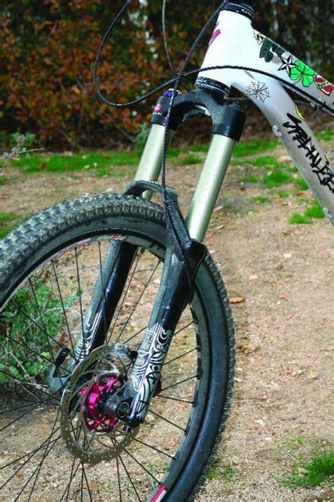 riding  rockshox totem solo air fork mountain bike