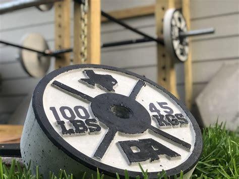 weights build  weight rack  da plate concrete weight plate molds  diy