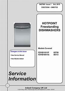 Hotpoint Fdyb11011p Dishwasher Service Manual