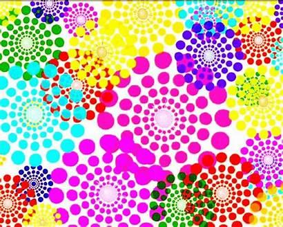 Bright Different Colors Flower Colores Movimiento Con
