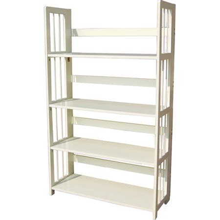 walmart bookshelf white 4 tier folding bookcase white walmart
