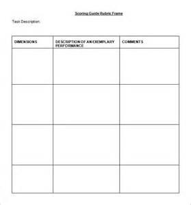 rubric template 47 free word excel pdf format free premium templates