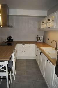 nouvelle cuisine photo 2 3 nous venons de poser une With poser une credence de cuisine