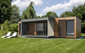 Maison Préfabriquée En Bois : micro maison pr fabriqu e modulaire contemporaine ~ Premium-room.com Idées de Décoration
