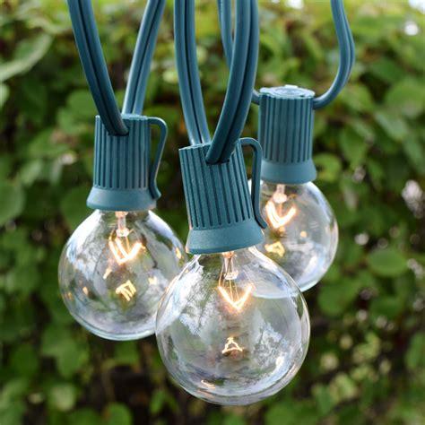 globe string lights 25 clear globe light strand 7w g50 bulbs