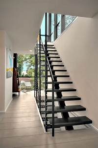 The Modern Steel Staircase Inside And Outside For Amazing