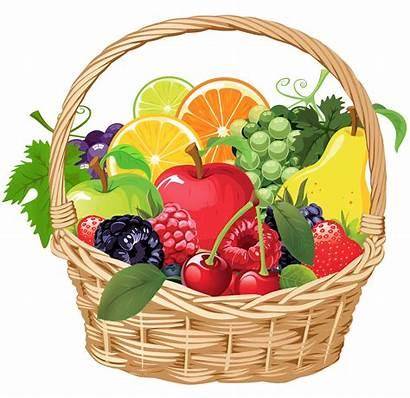 Fruit Clipart Basket Background Fruits Vegetables Clip