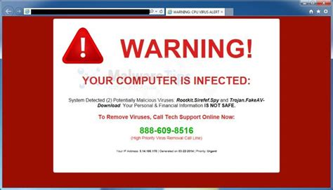 how do i get viruses my phone remove quot warning your computer is infected quot alert